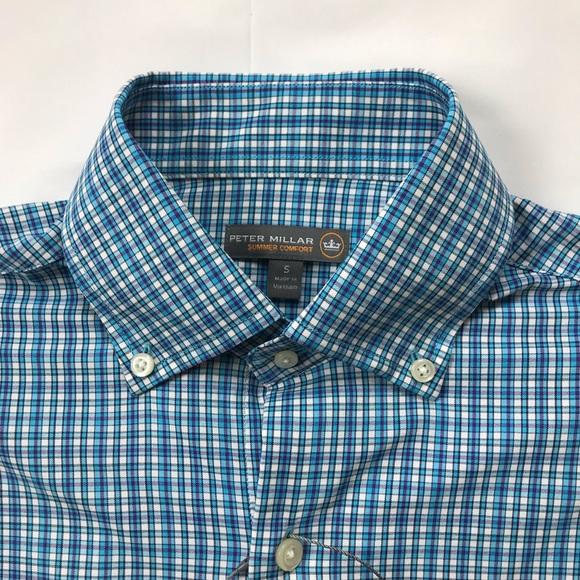 eab7176c342 Peter Millar Blue Purple Dress Shirt Men's S NWT NWT